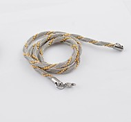 Fashion Colour Golden Titanium Steel Chain Necklace