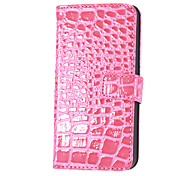 Waxed Alligator Pattern PU Leather Case with Stand and Card Slot for iPhone 5/5S (Assorted Colors)