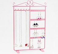 Metal Necklace Earring Set Display Stand Holder