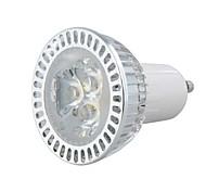 GU10 3W 1W × 3LEDs 270-300LM 3000-3500K Warm lampadina di bianco LED Spot (AC 100-220V)