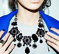 Black Statement Necklaces Rhinestone Party / Daily / Casual Jewelry