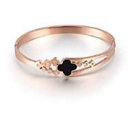 accesorios trébol de cuatro hojas Rose pulsera de oro de alta calidad de los brazaletes de titanio femenina