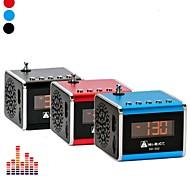 """HI-RICE SD-502 Portable Mini 1.0 """"LCD con altavoces / MP3 / Radio FM - (Azul / Rojo + Negro)"""