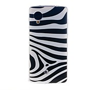 Kinston Zebra Pattern TPU Soft Case for Google LG Nexus 5
