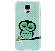 Owl Pattern Ultra-slim Smooth Soft Gel TPU Case for Samsung Galaxy S5 I9600