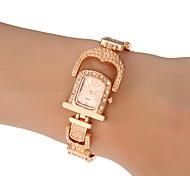 Forma de vestir de acero banda de cuarzo reloj de pulsera de mujer (varios colores)