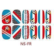 3D uno mismo-adhensive bandera francesa Uñas Tatuajes de Fútbol Juegos Fan pegatinas de decoración de uñas de arte