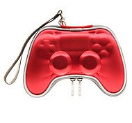 Funda de cuero controlador de juegos de color rojo para la PS4