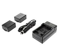 ismartdigi-Pana BLB13E (2pcs) 1300mAh, 7.2V Cámara Cargador de baterías para coche de Panasonic DMC-G1/GH1/GF1/G10/G2