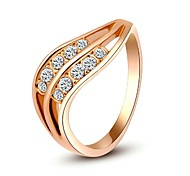 Ladylike 18K Gold Plated Jewelry Use Shining Austria Crystal Charming Ring