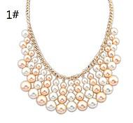Collier Déclaration de perle de mode