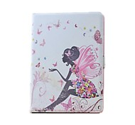 PU Leather With Beautiful Spirit and Pearl Case for iPad Air