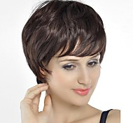 Fashion   Hair  Chestnut  Brown  Color  Short   Curly   Hair   Wig