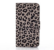For Samsung Galaxy Case Card Holder / with Stand / Flip / Pattern Case Full Body Case Leopard Print PU Leather Samsung S5