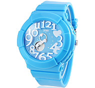 Women's Special Dial Dual Time Zones Silicone Band Quartz Wrist Watch (Assorted Colors)