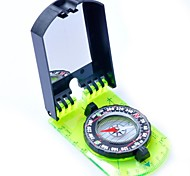 3109 Camping Hiking Folding Map Compass+Mirror+Ruler-Green+Black