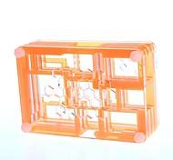 PI04   Protective 9-Layer Acrylic Case Enclosure Box for Raspberry PI - Translucent + Orange