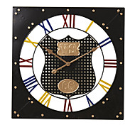 "24""H Brief Square Mute Metal Wall Clock"