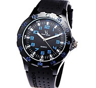 Neutral's Quartz Black Rubber Band Analog Wrist Watch
