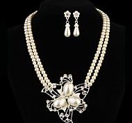 regalo per la madre della lega di figura del fiore di modo (collane&orecchini&) set di gioielli di perle