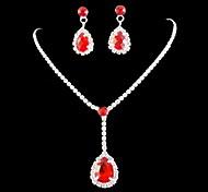 casamento da dama de honra nupcial set colar de cristal brincos de jóias
