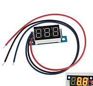 "Mini 0.36"" 3 Digital LED Display DC 0V-100V Yellow Volt Voltage Meter Voltmeter"