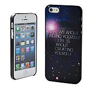 Жизнь не о поиске себя Речь идет о создании Себя чехол шаблон пластик жесткий для iPhone 5/5S