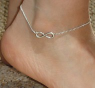 Shixin® Fashion Number 8 Pattern Alloy Anklet(Golden,Silver)(1 Pc) Jewelry Christmas Gifts