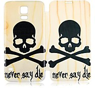 Never Say Die PU Leather Case cuerpo completo para Samsung Galaxy i9600 S5