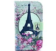 Eiffelturm-Muster PU-Leder-Handytasche für Samsung Galaxy Stil DUOS I8262D