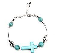 Coway3000036 Cross Turquoise Bracelet