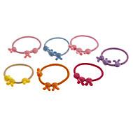 Fashion Elastic Little Rabbit Ear Multicolor Stoff Haargummis für Frauen (7 Stück)
