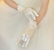 Wrist Length Fingertips Glove Lycra Bridal Gloves/Party/ Evening Gloves