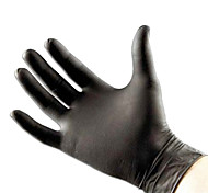 Powder-Free Black Nitrile Exam Latex-Free Tattoo Gloves Medium