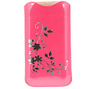 Flower Pattern PU Leather Pouch for iPhone 5/5S and Others(Assorted Colors)