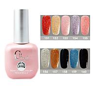 1PCS CH Soak-off Pink Bottle Astral Glitter UV Color Gel Polish NO.151-160(15ml,Assorted Color)