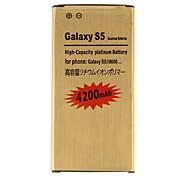 4200mAh substituição celular bateria de Ouro de Samsung Galaxy S5/I9600