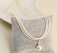 Fashion Pearl And Rhinestone Necklace