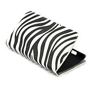 Estilo rayas de la cebra de la PU de la carpeta del cuero con la cubierta del caso del soporte para el Nokia Lumia 520