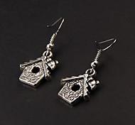 Cute House Silver Alloy Earrings(1 Pair)