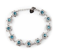 Fashion 925 Silver Plated Copper Zircon Bracelets