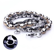 Fashion Personalized Gift  Handmade Stainless Steel Jewelry  Engraved Chain Link Bracelets 0.6cm Width