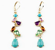 Drop EarringsJewelry Alloy / Gem / Rhinestone Party / Daily / Casual