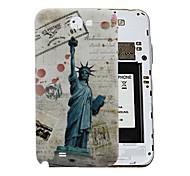 Enteros Estatua de la Libertad Retro dura de la PC de la batería Contraportada Vivienda para Samsung Galaxy Note N7100 2