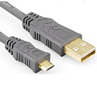 USB 2.0 to Micro USB Mobile Phone Cable Charge Cable Pure Copper Wire Core 2824AWG;OD:4.5MM