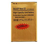 Téléphone 4200mAh Haute Capacité batterie de cellules d'or pour Samsung Galaxy Noto III