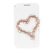 Kinston Big and Small Hearts Pattern PU Leather Full Body Case with Stand for Huawei P7