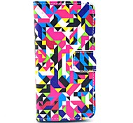 Diamond Puzzle Pattern Full Body Leather Case with Card Holder for iPhone 5C