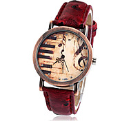 WOMEN'S Water-Resistant whblack Dial leather Band Quartz Wrist Watch