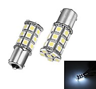 Merdia 1156 5W 27x5050SMD LED White Light for Car Backup / Steering Light (24V/ A Pair)